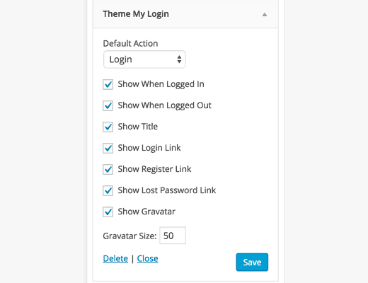 Login from frontend sidebar in WordPress