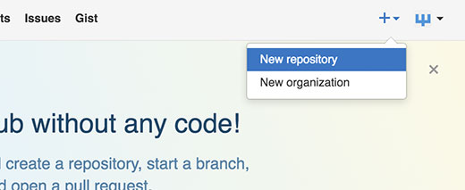Adding a new repository in GitHub