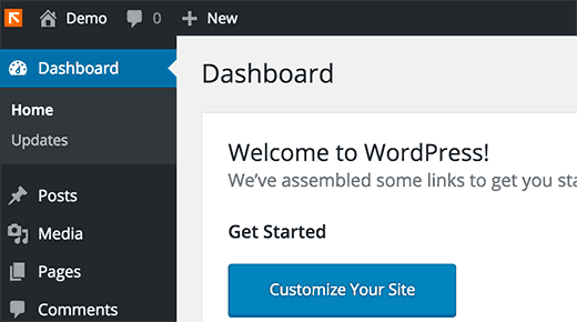 Custom logo in WordPress dashboard