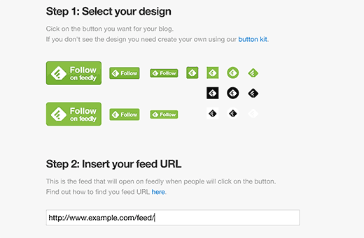 Follow on Feedly button