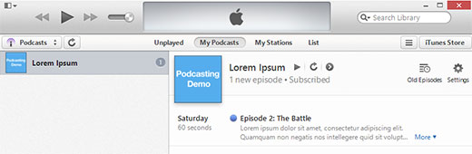 Previewing your podcast in iTunes پادکست شخصی در وردپرس