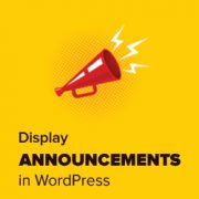 How to Display Announcements in Your WordPress Blog