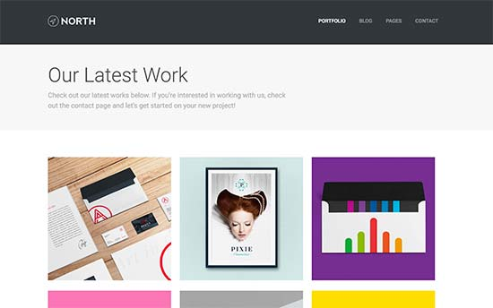 North Is A Beautiful WordPress Portfolio Theme That Can Be Easily Used To  Showcase Your Resume And Work. It Features A Grid Layout With Minimalist  Approach ...  Wordpress Resume Themes