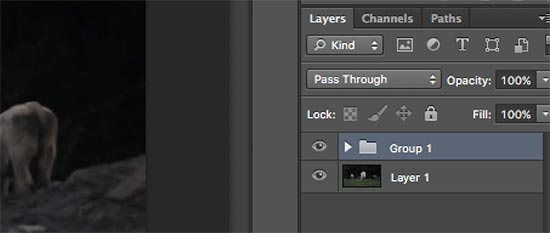 Grouped layers