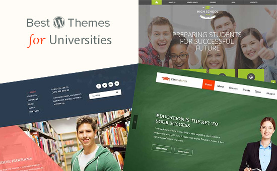 WordPress themes for universities