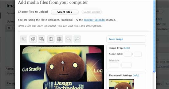 WordPress 2.9 Image editing