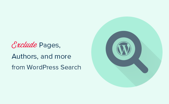 Exclude pages, authors, category, tag, and more from WordPress search