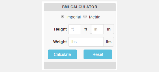 CC BMI Calculator