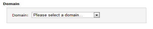 Select a domain in cpanel