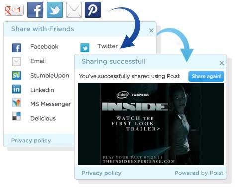 Po.st Revenue Model Screenshot
