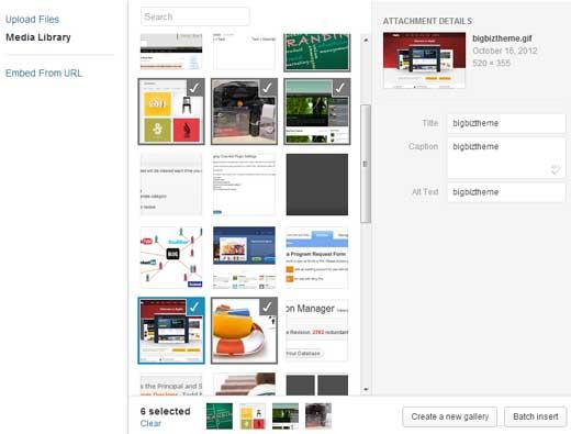 WordPress 3.5 Media Lightbox