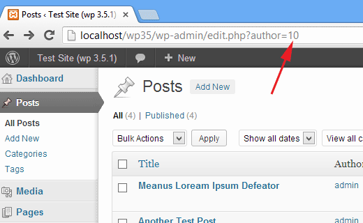 Finding author ID in WordPress