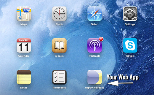 Adding your WordPress website's icon on iPhone or iPad's home screen