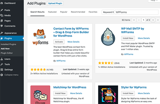 Adding a new WordPress plugin
