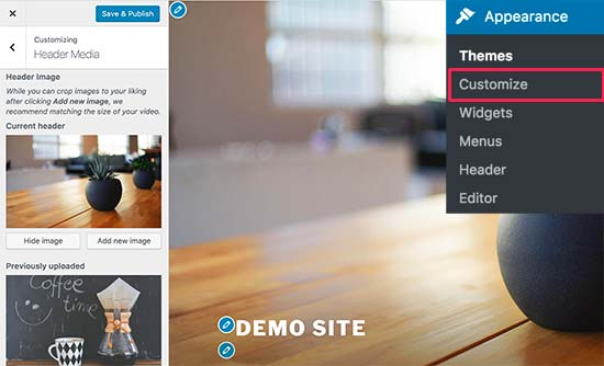 Adding a custom header image in a WordPress theme