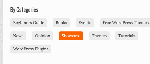 Displaying in line categories on archives page in WordPress