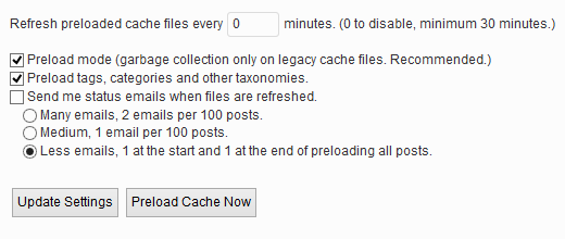 Preload WP Super Cache and Serve Static Files