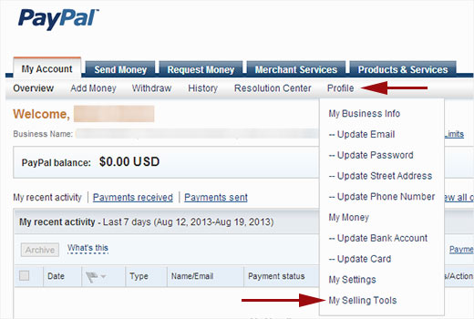 Obtaining PayPal API Credentials for your Booking System