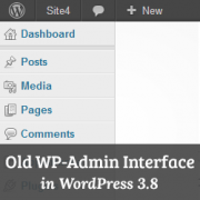 How to Get Old WordPress Admin Interface in WordPress 3.8