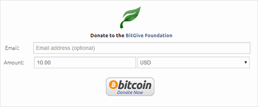 A demo of Bitcoin donate button