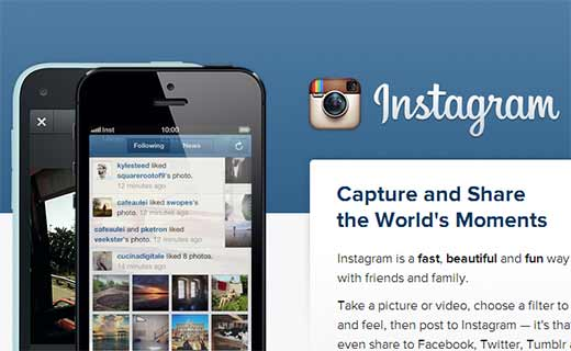 Instagram app for Android and iPhone