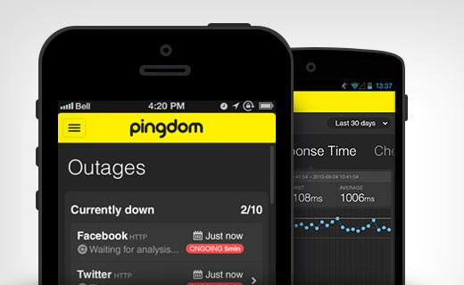 Pingdom app for mobile devices