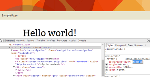 Playing around with CSS in Chrome Inspector