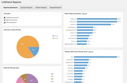 LinkPatrol Reports Dashboard