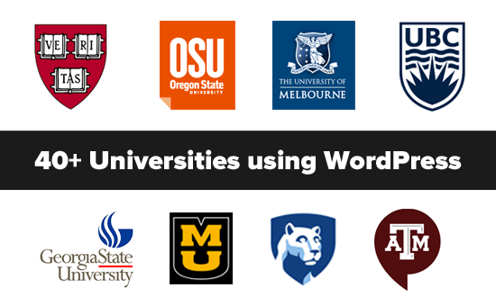 Top Universities using WordPress
