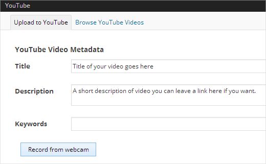 Capture and upload YouTube videos from WordPress