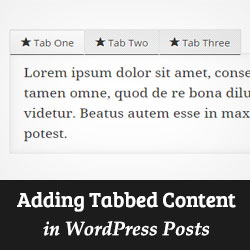 How to Add Tabbed Content in WordPress Posts and Pages