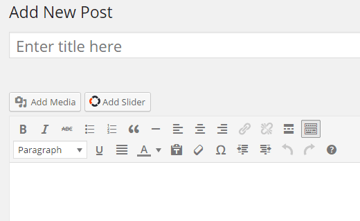 Adding slider to a post