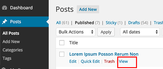 Finding the URL of a single post in WordPress