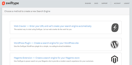 Swiftype Search Engine for WordPress
