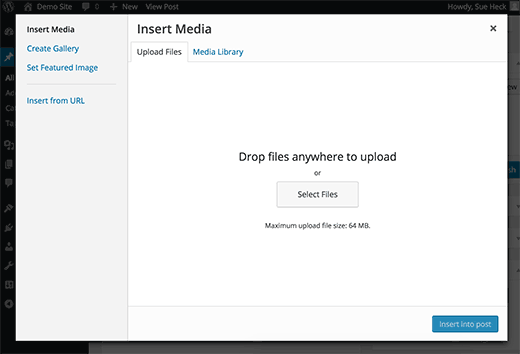 Media Uploader popup no WordPress