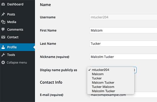 Het toevoegen van je voor- en achternaam of een bijnaam in WordPress