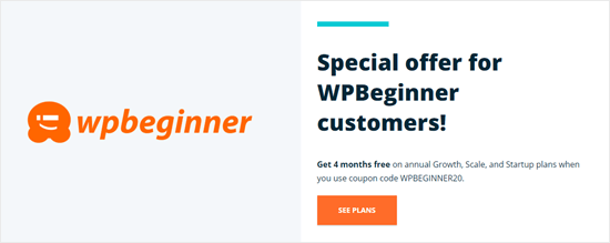 WP Engine's special offer for WPBeginner readers