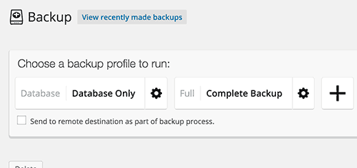 Backup Profiles