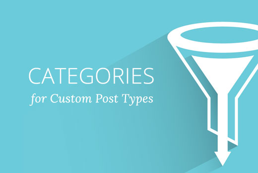 Adding categories to a custom post type