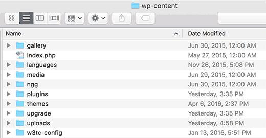 wp-content folder