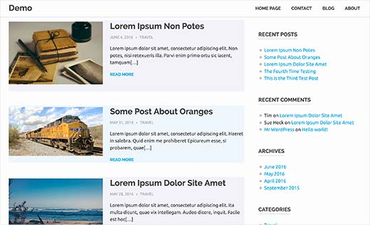 Posts using alternate background colors with even/odd css classes in WordPress