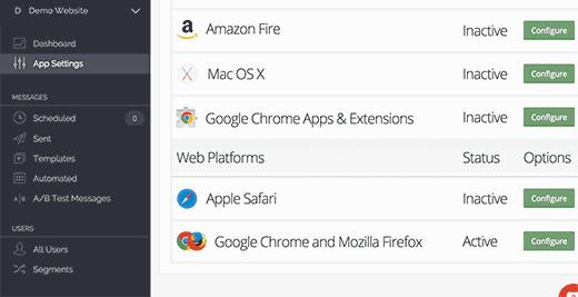 Configure Apple Safari