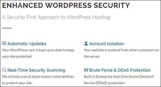 GreenGeeks secure WordPress hosting