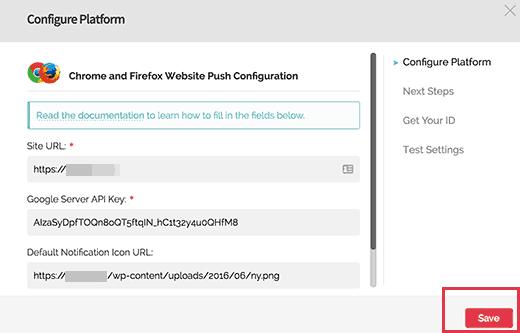 testing web push notifications