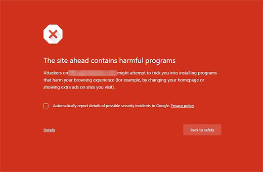 Kesalahan program berbahaya di Google Chrome
