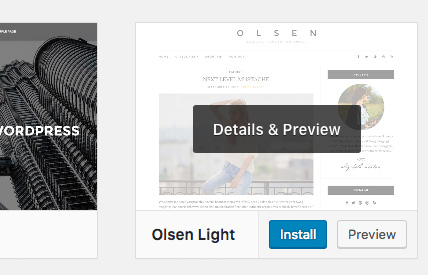 Instal dan Aktifkan Theme WordPress