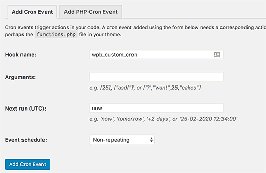 Add custom cron event in WordPress