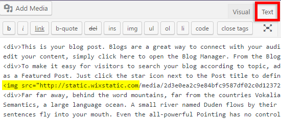 blog post images are still hosted with Wix