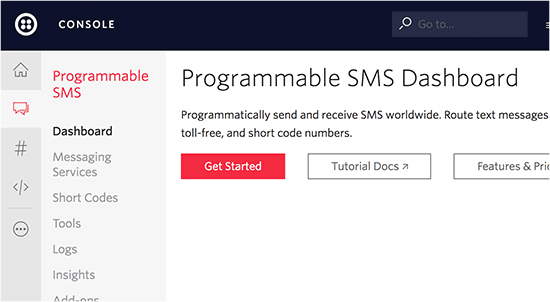 Get started with Twilio