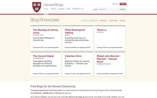 40+ Popular Universities that are Using WordPress